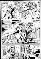 VOSBURG, MIKE - Secret Society of Supervillains #15 pg 3, full Villain Team! Comic Art