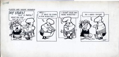 HOEST, Bill - Maude & Claude tryout daily, cooking - 1960s Comic Art