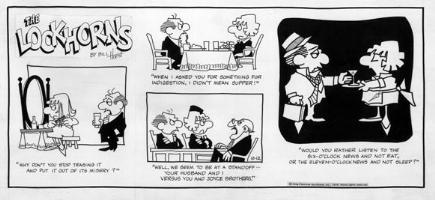 HOEST, BILL - Lockhorns 10-12 1975 Sunday Comic Art
