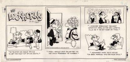 HOEST, BILL - Lockhorns Sunday, husband drinks & Loretta picks on husband - 5/23 1982 Comic Art
