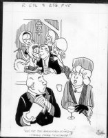 HOEST, BILL - Timely-Humor cartoon - Good Girl art 1950s Comic Art