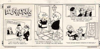 HOEST, BILL - Lockhorns Sunday 5/2 1982 Four cartoons with bar scene Comic Art