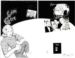SIM, DAVE - Cerebus final story - Glamourpuss #18 double-splash, Cerebus Madmen Age, singer Lesley Gore Comic Art