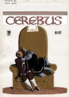 SIM, DAVE - Cerebus #30 cover, early & rare full painting Comic Art