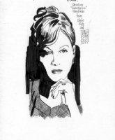 SIM, DAVE - Cerebus story - Glamourpuss Madmen Age, Actress Christina  Joan  Hendricks Comic Art