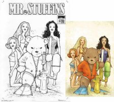 PETERSEN, DAVID - Mr Stuffins #3 cover, Bear & Barbie Dolls -  Eisner Award winner Mouse Guard Comic Art