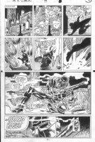 SAVIUK, ALEX - Web of Spiderman #89 pg 9, Bllod Rose talks to Fisk Comic Art
