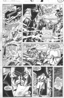 SAVIUK, ALEX - Web of Spiderman #89 pg 14, New Kingpin attacked by Rose Comic Art
