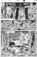 SAVIUK, ALEX - Web of Spiderman #89 pg 15, New Kingpin vs Rose Comic Art