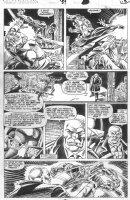SAVIUK, ALEX - Web of Spiderman #89 pg 16, New Kingpin fights Rose Comic Art
