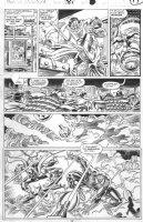 SAVIUK, ALEX - Web of Spiderman #89 pg 17, Spidey & Hobgoblin teamup Comic Art