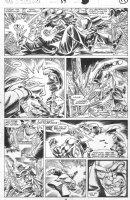 SAVIUK, ALEX - Web of Spiderman #89 pg 19, new Kingpin fights Rose Comic Art