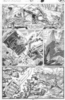SAVIUK, ALEX - Web of Spiderman #89 pg 20, Spidey webs & beats gang Comic Art