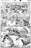 SAVIUK, ALEX - Web of Spiderman #89 pg 21, Spidey vs super-powered gang member Comic Art