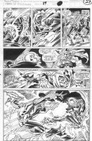 SAVIUK, ALEX - Web of Spiderman #89 pg 24, Spidey vs Hobgoblin vs Kingpin vs Rose Comic Art