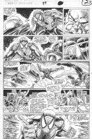 SAVIUK, ALEX - Web of Spiderman #89 pg 27, Spidey beats New Kingpin & Rose Comic Art