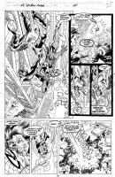 SAVIUK, ALEX - Web of Spiderman #79 pg 25, battle page Comic Art