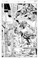 SAVIUK, ALEX - Web of Spiderman #79 pg 24, battle page Comic Art