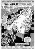 SAVIUK, ALEX - Web of Spiderman #89 pg 1 Splash, New Kingpin round table Comic Art