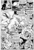 SAVIUK, ALEX - Web of Spiderman #89 pg 3, montage splash history of Spidey w/ Kingpin / Rose & Hobgoblin Comic Art