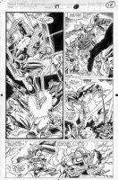 SAVIUK, ALEX - Web of Spiderman #89 pg 18, Spidey, Hobgoblin & gang Comic Art