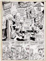 WARD, BILL / EVERETT - Pussycat Mag. #1 pg 1 Splash  Lively Lass , spys  1966 / 68 Comic Art