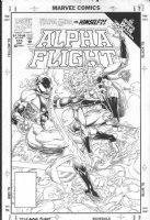 BRODERICK, PAT - Alpha Flights #111 cover, Infinity War, Weapon Omega/ Wildchild, Evil Wildchild, Sasquatch, Puck, Evil Puck, Evil Sasquatch, Evil Cyclops Comic Art