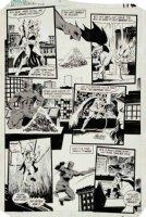 BRODERICK, PAT / KLAUS JANSON - Detective Comics #547 pg 14, Batman fights, Nocturna teams with Robin  1985 Comic Art