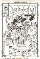 BRODERICK, PAT - Doom 2099 cover #8, future Dr Doom  Comic Art