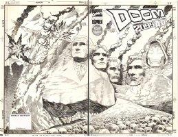 BRODERICK, PAT - Doom 2099  double-cover #29, future Dr Doom  Comic Art