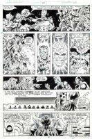 BRODERICK, PAT - Captain Marvel #59 pg 15, Capt & Drax saving Thanos family  1978 Comic Art