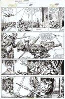 CHAN, ERNIE / GARY KWAPISZ - Savage Sword Conan #109 pg 30 Comic Art