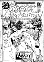 BUCKLER, RICH - Wonder Women #249 cover, Wonder Woman teams up with Hawkgirl. One of the classic covers for this time. Used as a house ad to promote the series Comic Art