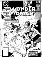 COLAN, GENE - Wonder Woman #289 cover, shown without overlay for Huntress and villain Comic Art