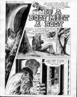 SPARLING, JACK - Creepy #36-  If A Body Meet A Body- pg 2 (49), Title splash, Uncle Creepy Comic Art