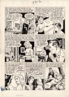 CRAIG, JOHNNY - Shock Suspenstories #11 pg 2, a man is so jealous of his beautiful young wife that he commits a shocking murder Comic Art