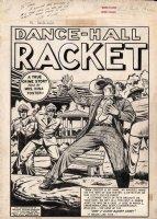 FELDSTEIN, AL - Crime Patrol #10 EC Splash,  Dance Hall Racket  - signed & inscribed Comic Art