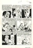 CRAIG, JOHNNY - Vault of Horror #7 large pg 6, Vault Keeper narrates nervous Bride & Groom, 1951 Comic Art