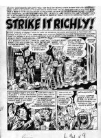 DAVIS, JACK - Panic #2 Mad sister comic large pg 1 Splash, Strike-It-Rich TV game-show satire Comic Art