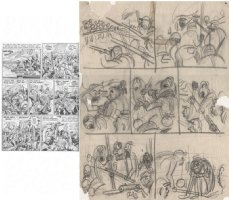 KURTZMAN, HARVEY - Two-Fisted Tales #31 pg 6, pencil layouts Comic Art