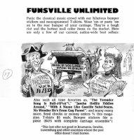 DAVIS, JACK (retired) - Mad #222 splash page, Funsville - classical music gag Comic Art