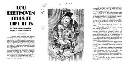 DAVIS, JACK (retired) - Mad #222 splash page, Lou Beethoven Comic Art