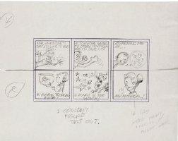 DAVIS, JACK - Topps Valentines - 3 Pencil Card sets - Kids' stuff fishbowl, fighting & Mom  1963 Comic Art