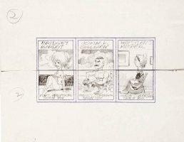 DAVIS, JACK - Topps Valentines - 3 Pencil Card sets - Celebrity theme - Bridget Bardot, John L Sullivan, Whistler's Mother  1963 Comic Art
