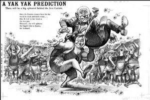 DAVIS, JACK - Yak Yak Dell - double-page Splash with logo, Predictions- Krushev Comic Art
