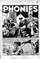 DAVIS, JACK (retired) - Crime SuspenseStories Splash - EC  Phonies  safe cracking Comic Art