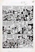 DAVIS, JACK (retired) - Panic #2 Mad sister comic 2-up pg 3, Gaines & Feldstein appear Comic Art