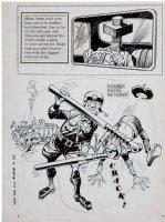 DAVIS, JACK (retired) - YAK YAK Dell humor comic 1-pager - a Cop nut-cracker, 1960s Comic Art