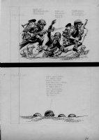 DAVIS, JACK (retired) - YAK YAK Dell humor comic 1-pager - real World War II battle, 1960s Comic Art