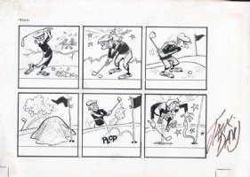 DAVIS, JACK (retired) -  Golf humor Sunday strip  - 1960s Comic Art